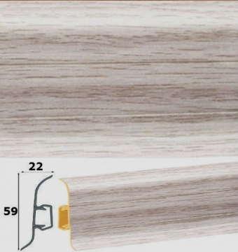 Плинтус пластиковый матовый Cezar арт.157
